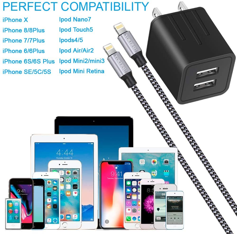 Apple iPhone Charger: Charging Cable and Wireless for 6, 7, 8, X, XR, 11 and 12