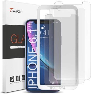 Trianium 3 Pack Glass Protector Compatible with iPhone 12, iPhone 11, and iPhone XR Screens