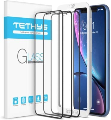 TETHYS Glass Screen Protector Designed for iPhone 12/ 11 / iPhone XR