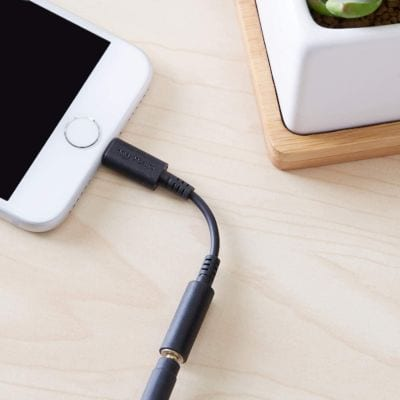Lightning to 3.5 mm headphone jack adapter for iPhone
