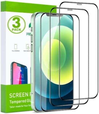 FILUV Compatible with iPhone 12 Screen Protector, iPhone 12 Pro Screen Protector